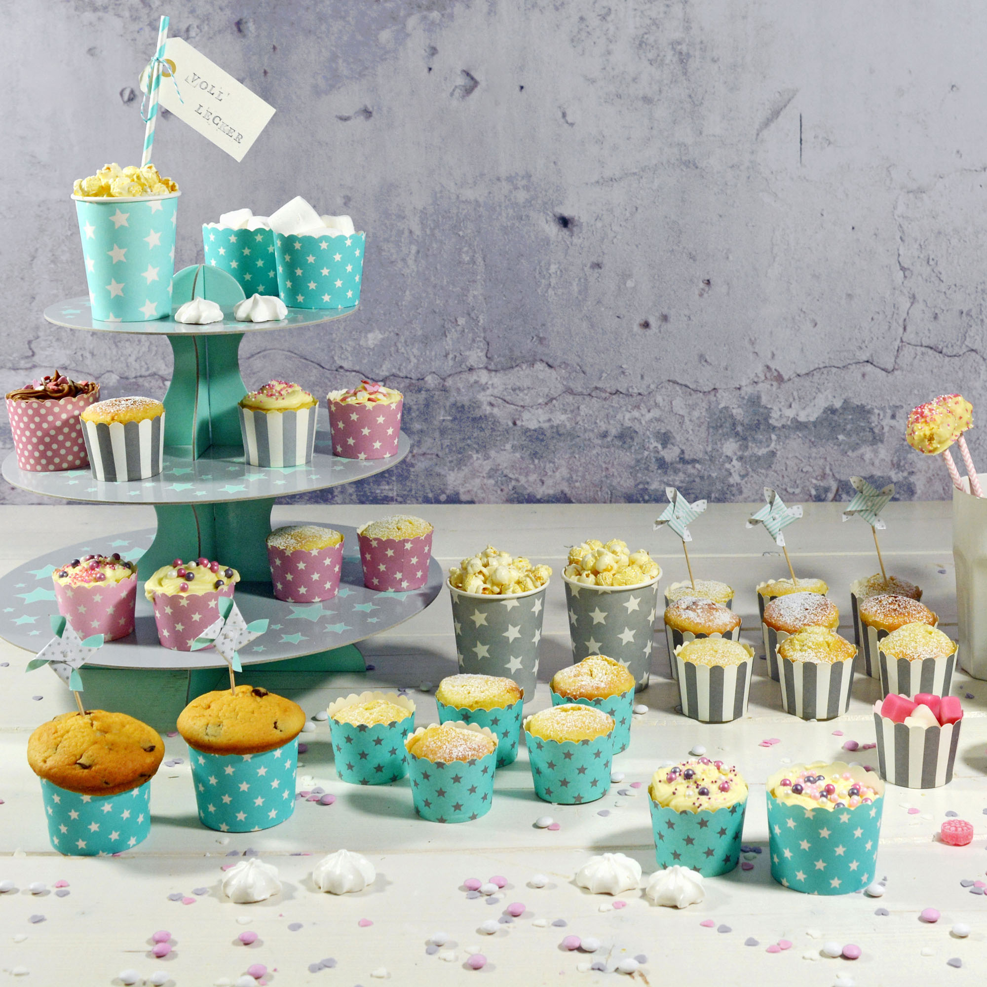 muffin cupcake kuchenstecker topper candy bar sweet table. Black Bedroom Furniture Sets. Home Design Ideas
