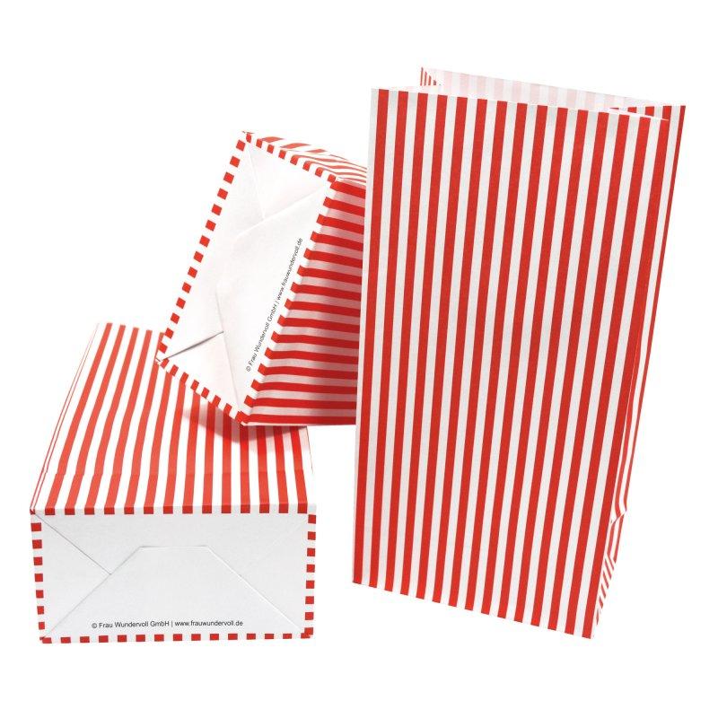 12 papiert ten mit boden rot wei e streifen 100g papier 4 99. Black Bedroom Furniture Sets. Home Design Ideas