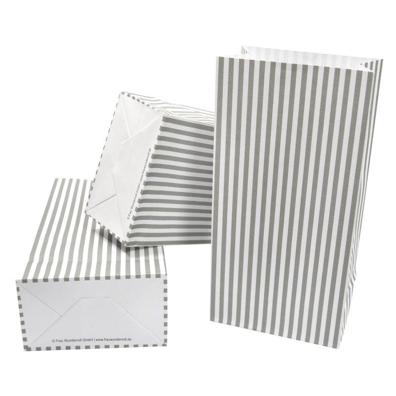 12 papiert ten mit boden grau wei e streifen 100g papie. Black Bedroom Furniture Sets. Home Design Ideas