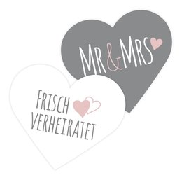100 Konfettiherzen Mr & Mrs