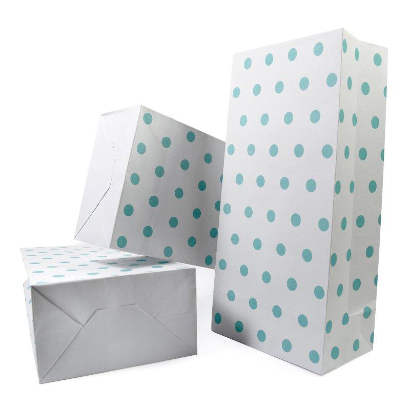 papiert ten mit boden wei t rkise punkte 100g papier 4 99. Black Bedroom Furniture Sets. Home Design Ideas